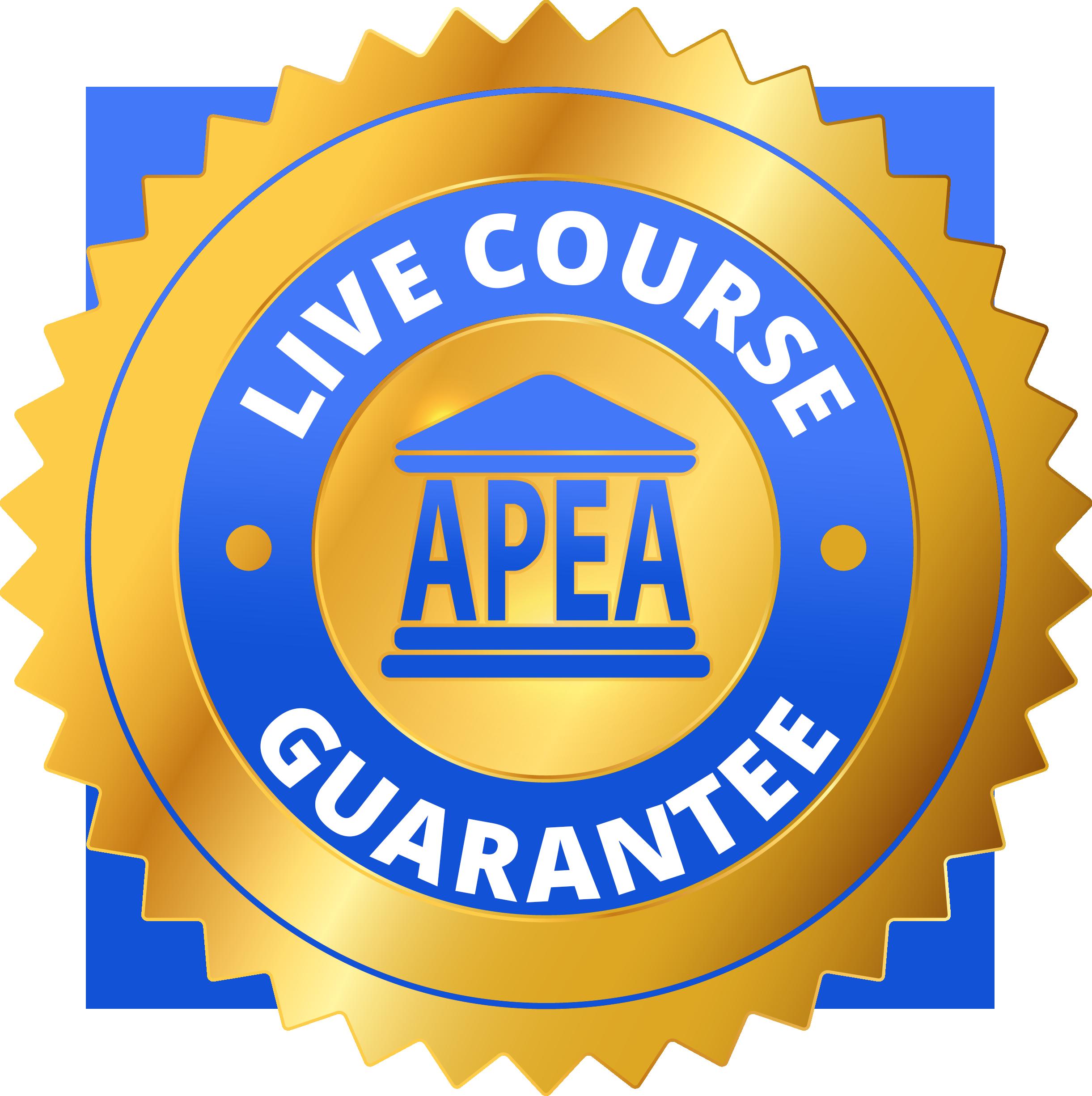 APEA Live Review Course Guarantee